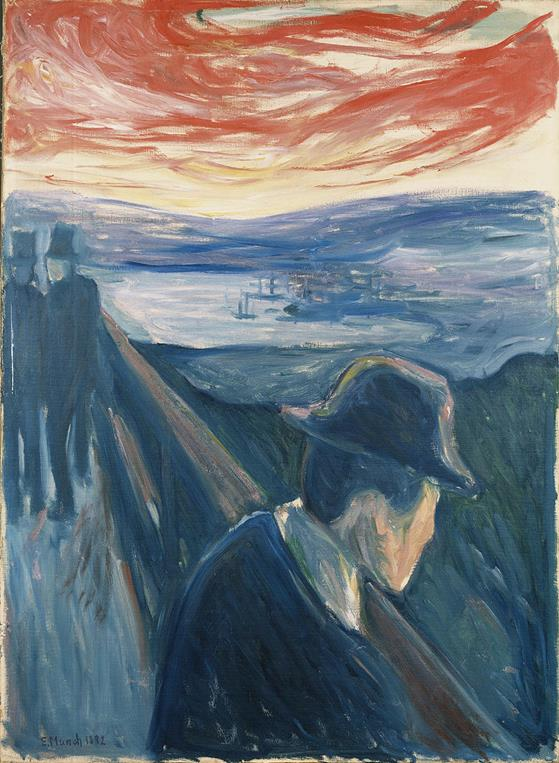 E. Munch, Despair, 1892, Thielska Galleriet, Stockholm, Sweden - Public Domain via Wikipedia Commons