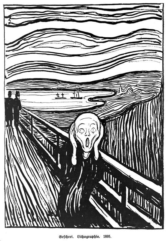 E. Munch, Il grido, 1895, Museum of Modern Art (MoMA), New York City, NY, US - Wikiart