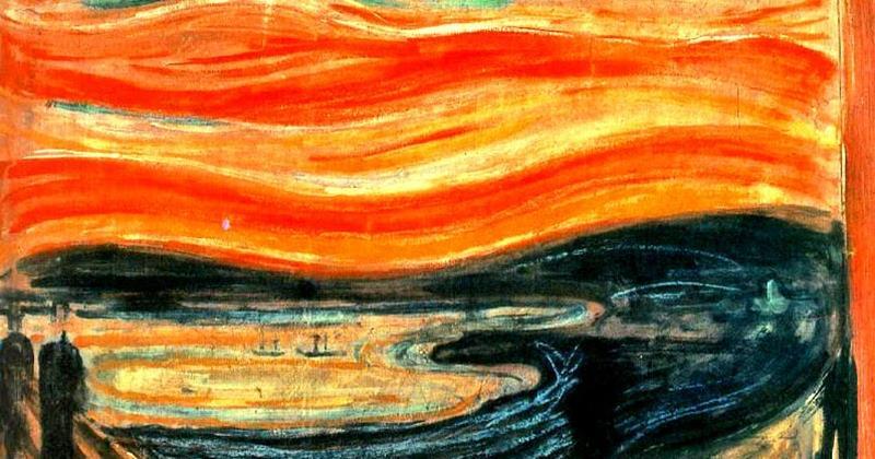 E. Munch, Il grido - particolare