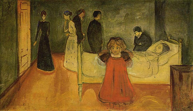 E. Munch, La madre morta e la bambina, 1897-99, Oslo, Munch-Museet - Pinterest