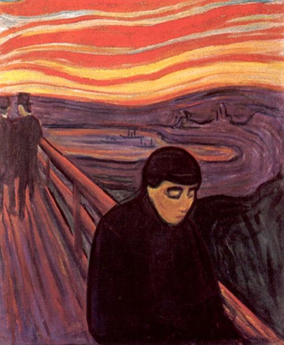 Edvard Munch - Despair (1894), Munch Museum, Oslo, Norway - Public Domain via Wikipedia Commons
