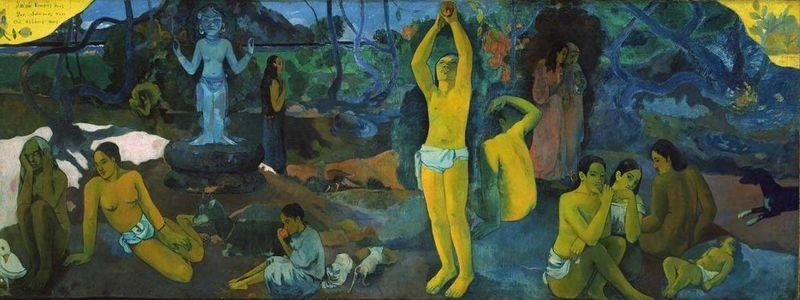 Paul Gauguin, Da dove veniamo Chi siamo Dove andiamo, 1897, Museum of Fine Arts, Boston - Public Domain via Wikipedia Commons