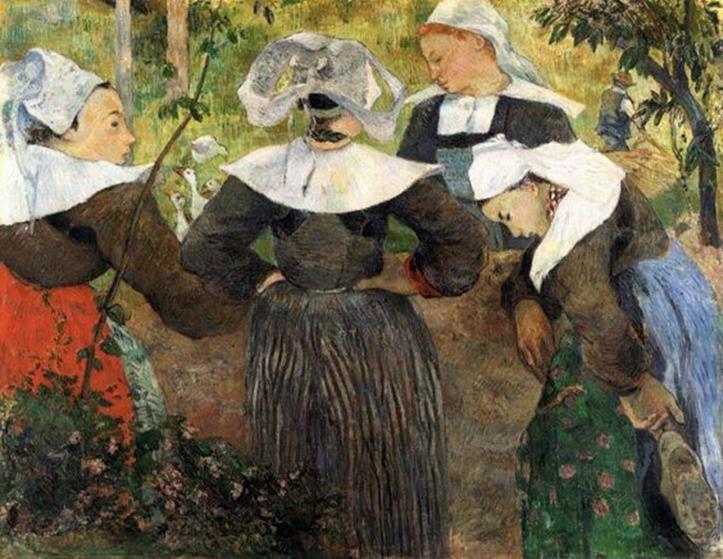 Paul Gauguin, Danza delle quattro bretoni, 1888, Monaco, Neue Pinakothek - Pinterest