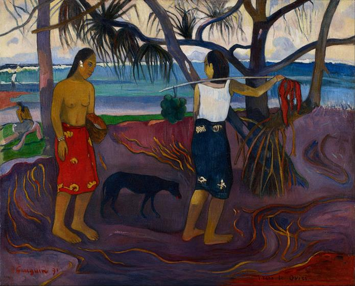 Paul Gauguin, I raro te oviri (I), 1891 - Public Domain via Wikipedia Commons