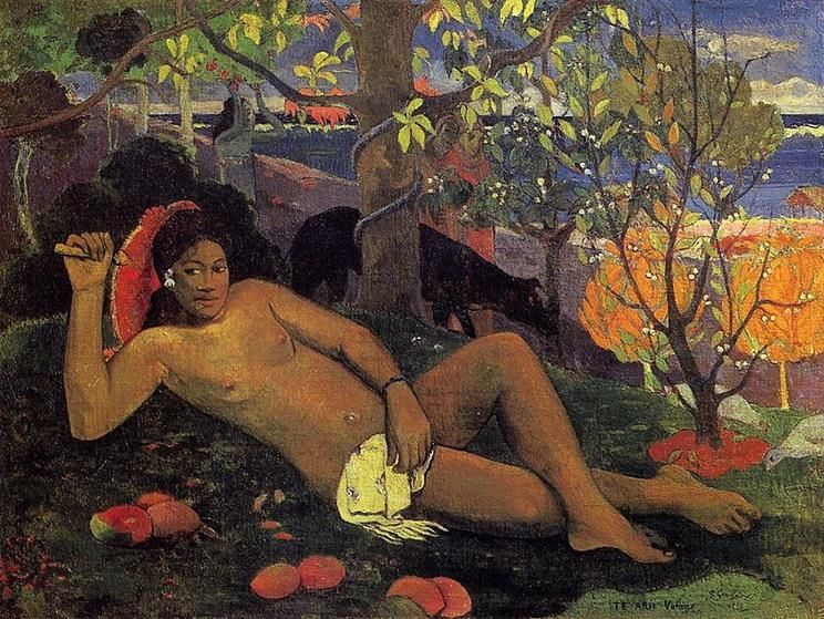 Paul Gauguin, Te Arii Vahine, 1896 - Public Domain via Wikipedia Commons