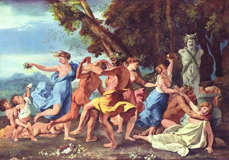 Carnevale - Nicolas Poussin - Bacchanale devant une statue de Pan, 1631-33, National Gallery - Public Domain via Wikipedia Commons