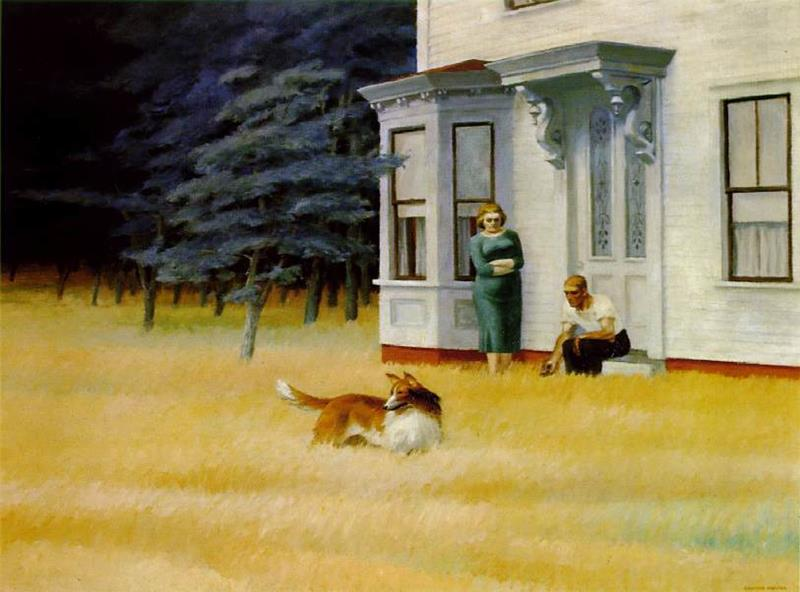 Edward Hopper, Cape Cod Evening, (Sera a Cape Cod), 1939,olio su tela, 76.2 x 101.6 cm, National Gallery of Art, Washington DC, Virginia, USA - Flickr