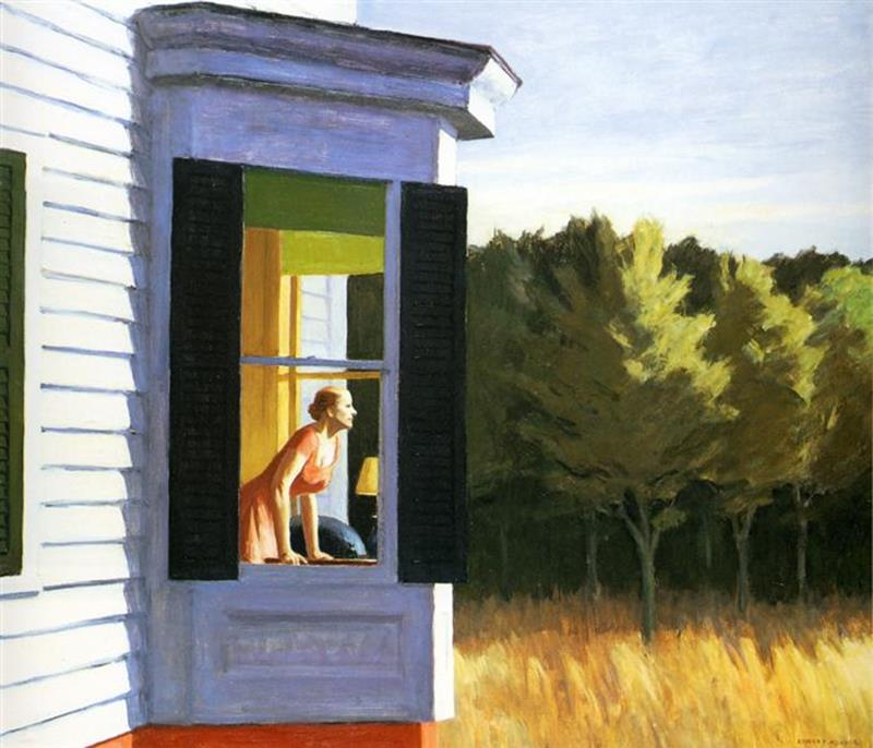 Edward Hopper, Cape Cod Morning, 1950 - Wikiart