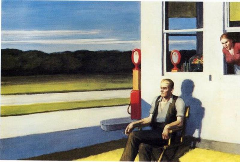Edward Hopper, Four Lane Road, 1956 - Pinterest