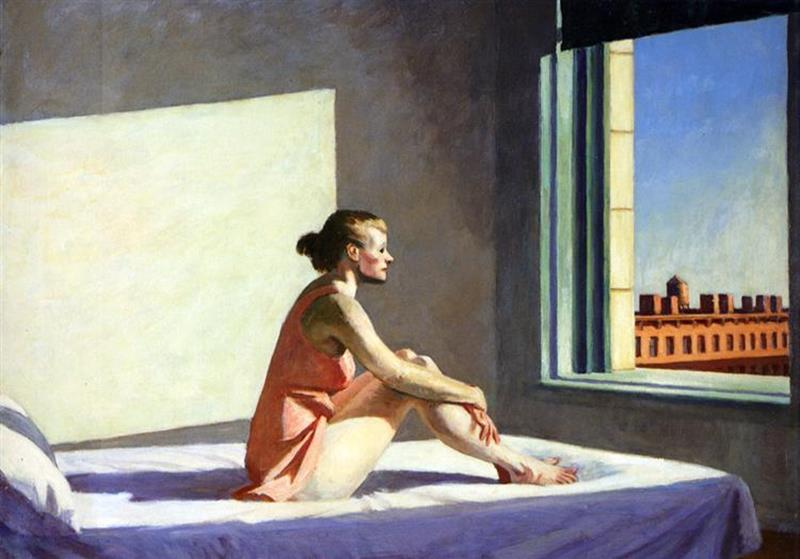 Edward Hopper, Morning sun, 1952 - Wikiart