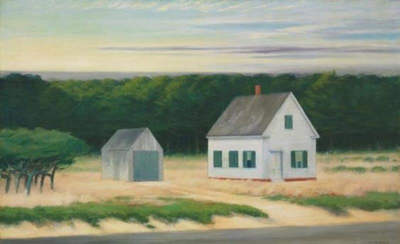 Edward Hopper, October on Cape Cod, 1946 - Pinterest