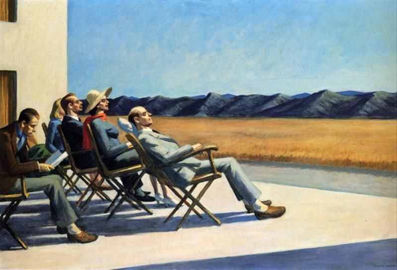 Edward Hopper, People In The Sun, 1960, Smithsonian American Art Museum - Wikiart