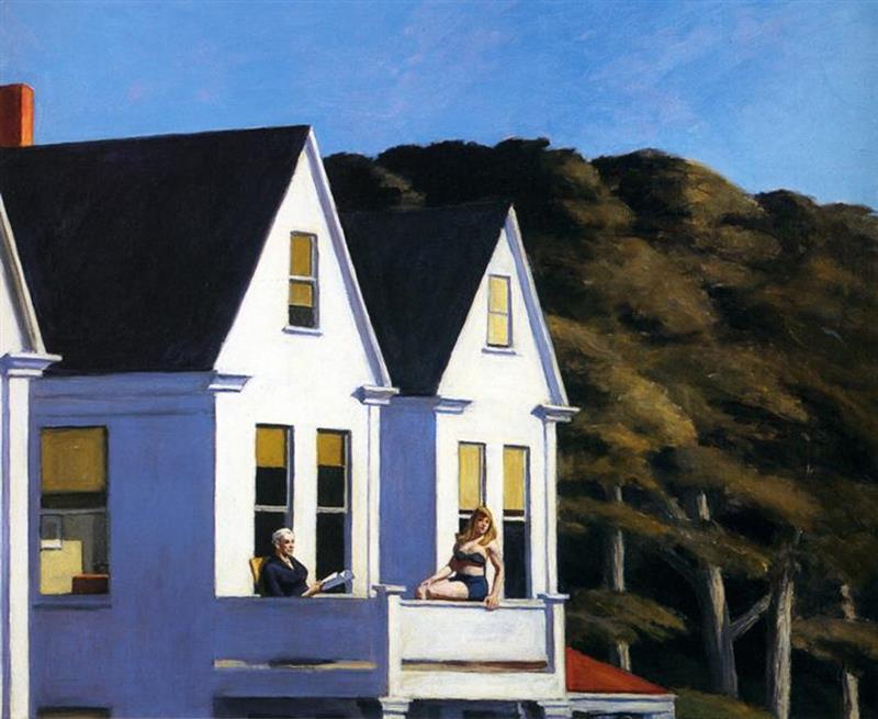 Edward Hopper, Second Story Sunlight, 1960 - Wikiart