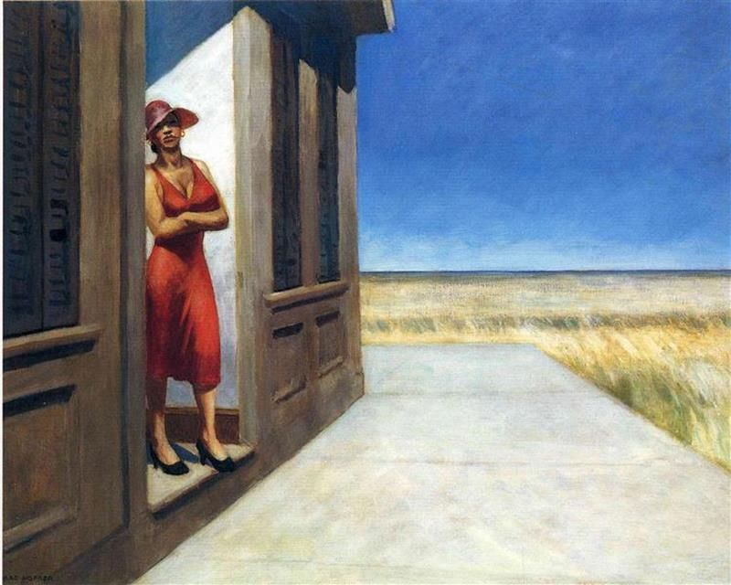Edward Hopper, South Carolina Morning, 1955, Whitney Museum of American Art, New York - Wikiart