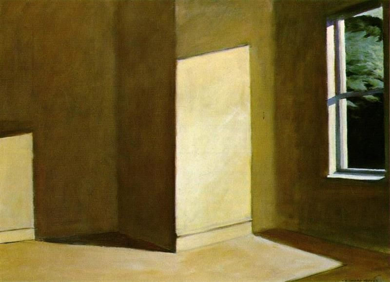 Edward Hopper, Sun In An Empty Room, 1963 - Wikiart