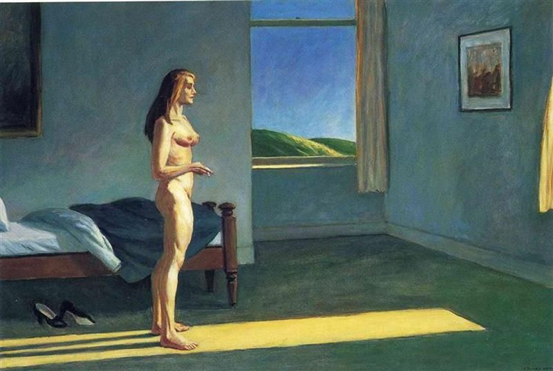 Edward Hopper, Woman in the sun, 1961, Whitney Museum of American Art, New York City - Wikiart