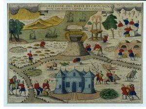 Il Paese di Cuccagna, incisione di Remondini di Bassano, XVIII sec. - www.archimagazine