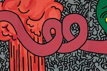 Keith-Haring,-Untitled,-June-11-1984,-acrilico-su-tela,-238,8-x-716,3-cm,-Collezione-privata-©-Keith-Haring-Foundation