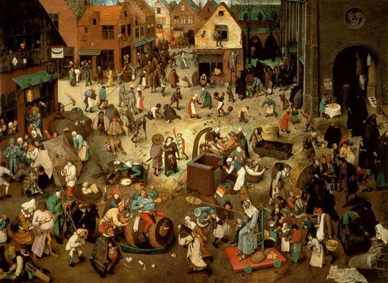 Pieter Bruegel il Vecchio, Lotta tra Carnevale e Quaresima, 1559 ca., Kunsthistorisches Museum, Vienna - Public Domain via Wikipedia Commons