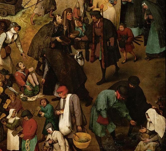 Pieter Bruegel il Vecchio, Lotta tra Carnevale e Quaresima - Dettaglio 1
