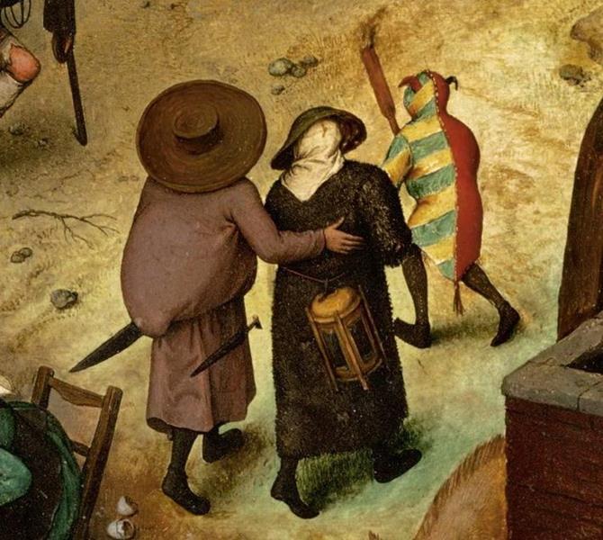 Pieter Bruegel il Vecchio, Lotta tra Carnevale e Quaresima - Dettaglio 10