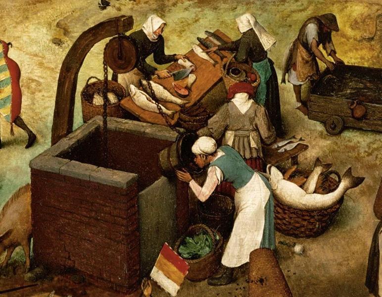 Pieter Bruegel il Vecchio, Lotta tra Carnevale e Quaresima - Dettaglio 13