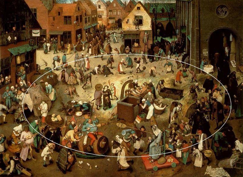 Pieter Bruegel il Vecchio, Lotta tra Carnevale e Quaresima - Dettaglio 14