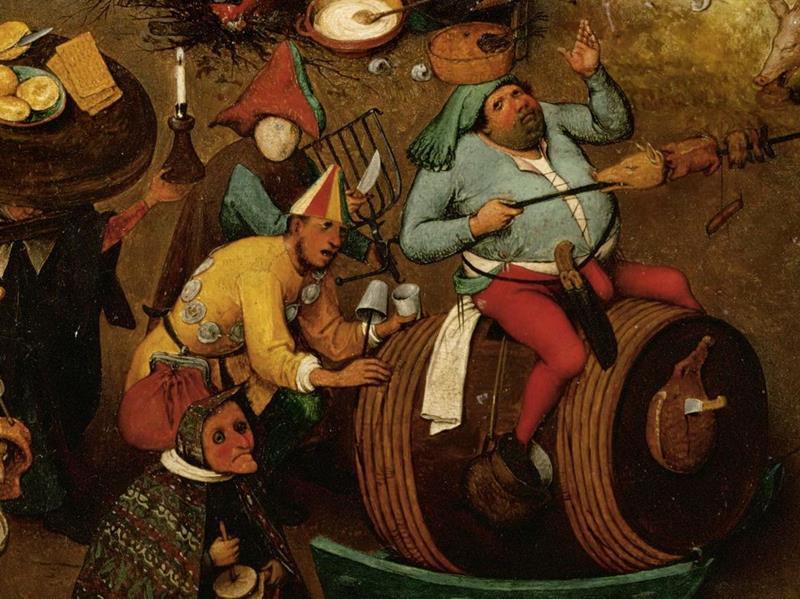 Pieter Bruegel il Vecchio, Lotta tra Carnevale e Quaresima - Dettaglio 2