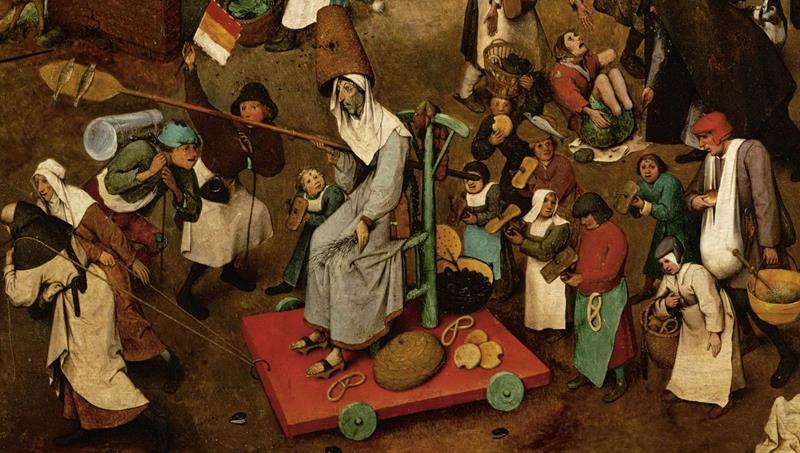 Pieter Bruegel il Vecchio, Lotta tra Carnevale e Quaresima - Dettaglio 3