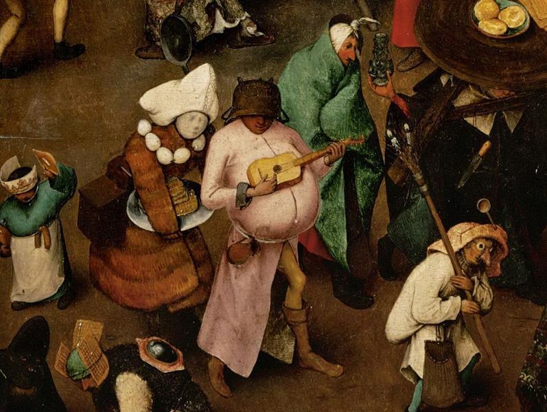 Pieter Bruegel il Vecchio, Lotta tra Carnevale e Quaresima - Dettaglio 4