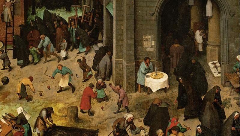 Pieter Bruegel il Vecchio, Lotta tra Carnevale e Quaresima - Dettaglio 5