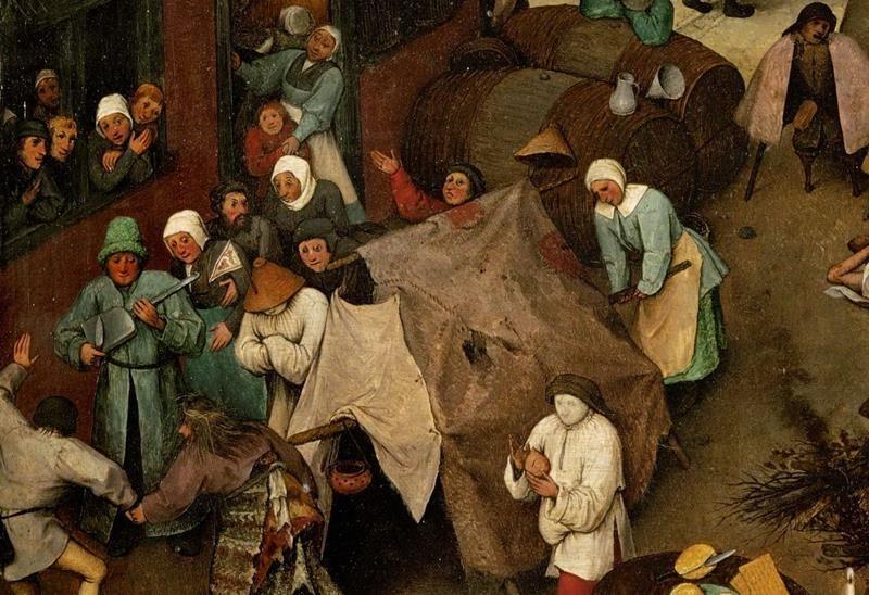 Pieter Bruegel il Vecchio, Lotta tra Carnevale e Quaresima - Dettaglio 6