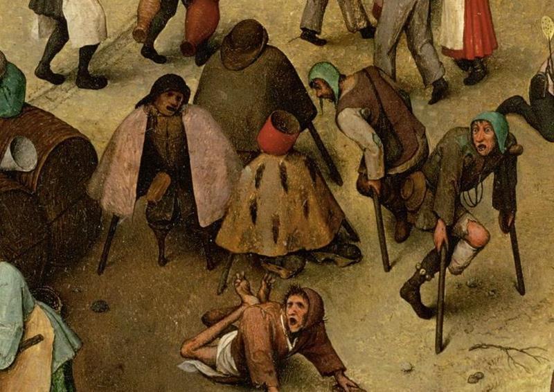 Pieter Bruegel il Vecchio, Lotta tra Carnevale e Quaresima - Dettaglio 7