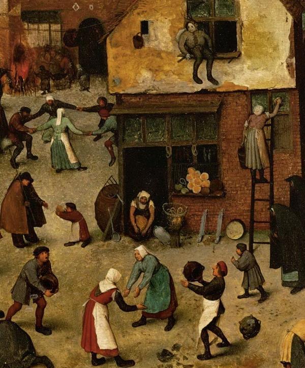 Pieter Bruegel il Vecchio, Lotta tra Carnevale e Quaresima - Dettaglio 8
