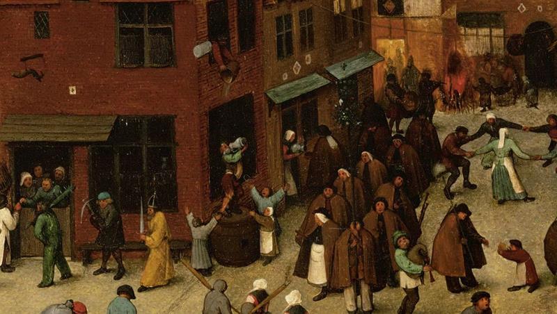 Pieter Bruegel il Vecchio, Lotta tra Carnevale e Quaresima - Dettaglio 9