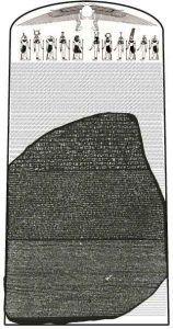 RosettaStoneAsPartOfOriginalStele_Captmondo_Voir-la-page-pour-l'auteur-[GFDL-],-via-Wikimedia-Commons