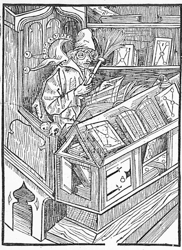Albrecht Dürer, Il pazzo dei libri, 1494 - Public Domain via Wikipedia Commons