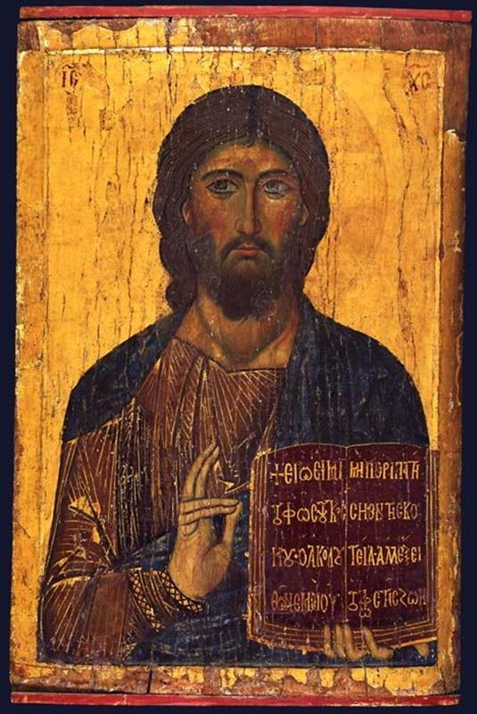Christ Pantocrator icon, St Catherine's Monastery, Sinai - Pinterest
