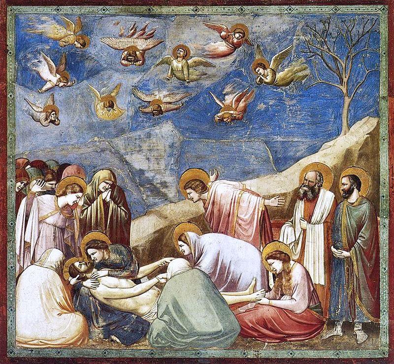 Giotto, Compianto sul Cristo morto di Giotto, 1303-1305, Cappella degli Scrovegni - Public Domain via Wikipedia Commons
