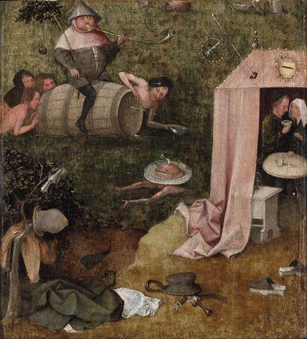 Hieronymus Bosch, L'allegoria dei piaceri, 1494 ca., Yale - Public Domain via Wikipedia Commons