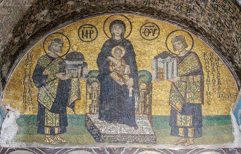 Mosaico Basilica di Santa Sofia - Public Domain via Wikipedia Commons