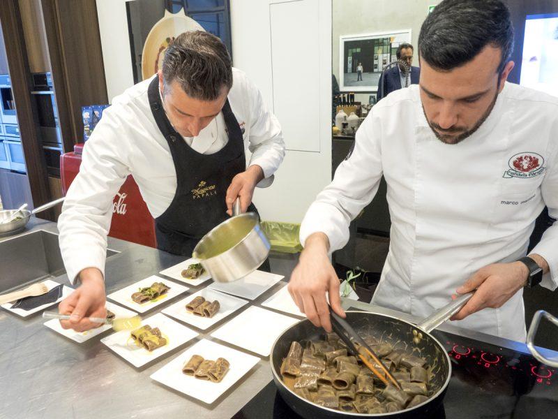 Lo show cooking di Rustichella d'Abruzzo a Milano