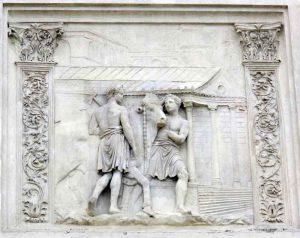 Controfacciata_di_villa_medici,_rilievi_romani_13_victimarii_conducono_un_bue_e_al_Tempio_della_Magna_Mater_sul_Palatino_(ara_gentis_Iuliae)_2_By-Sailko-(Own-work)-[CC-BY-3.0],-via-Wikimedia-Commons