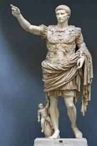 Statua-di-Augusto-loricato-o-Augusto-di-Prima-Porta,-12-8-a.C.,-Roma,-Musei-Vaticani,-Collezione-Chiaramonti---Public-Domain-via-Wikipedia-Commons