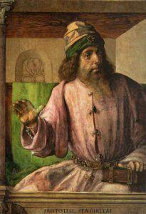 Giusto di Gand, Aristotele, Studiolo di Federico da Montefeltro, 1476 ca, Palazzo Ducale di Urbino. [Public-domain],-via-Wikimedia-Commons