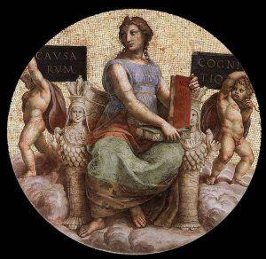 Stanza della Segnatura, La Filosofia – Public Domain via Wikipedia Commons.