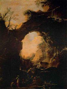 Salvator-Rosa,-Grotta-con-cascate-(1639-1640);-olio-su-tela,-palazzo-Pitti---Public-Domain-via-Wikipedia-Commons