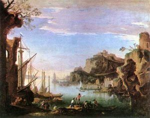 Salvator-Rosa---Harbour-with-Ruins,-1640-43---Public-Domain-via-Wikipedia-Commons
