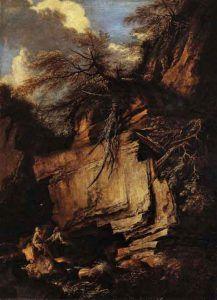 Salvator-Rosa,-Paesaggio-con-Eremiti,-1660-65,-Londra,-Collezione-Mahon---Pinterest