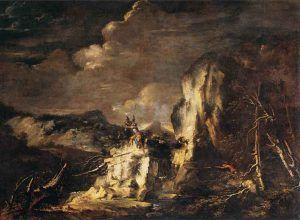 Salvator-Rosa,-Paesaggio-con-soldati-e-cacciatori,-1670-ca.,-olio,-Parigi---Public-Domain-via-Wikipedia-Commons